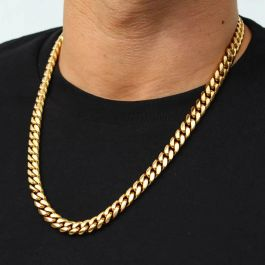8mm Stainless Steel Cuban Chain in Gold