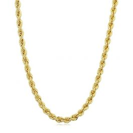 5mm 18K Gold Finish Rope Chain