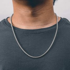 3mm Franco Solid 925 Sterling Silver Chain