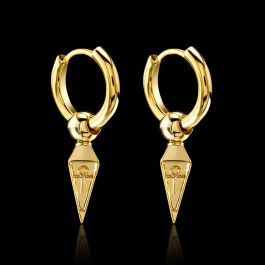 Ankh Stainless Steel Dangle Earrings