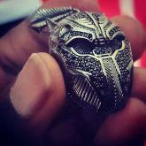 Black Panther Pendant in Black Gold