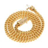 "6mm 28"" 18K Gold Finish Franco Chain"