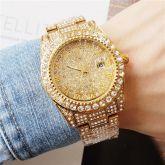 Iced 18K Gold Paved Diamond Quartz watch