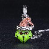 Iced Christmas Green Monster Pendant