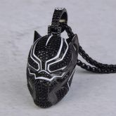 Iced Black Panther Pendant in Black Gold