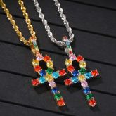 Multi-color Ankh Pendant