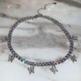Women's  Butterfly Tennis Chain in Silver