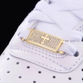 Iced Cross Lace Lock in Gold-Pair