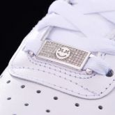 Iced Smile Emoji Lace Lock in White Gold-Pair
