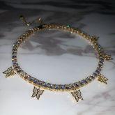 Women's Butterfly Tennis Chain in Gold