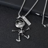 Big Eyes Alien Titanium Steel Pendant