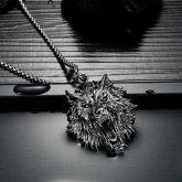 Vintage Wolf Stainless Steel Pendant