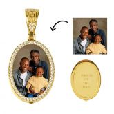 Custom  Oval Shape Photo Pendant