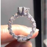 2.6 Ct  6-Claw Micro Pave Round Cut Ring