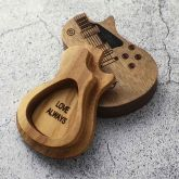 1Pcs Personalized Wooden Guitar Picks with Case