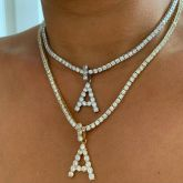 Women's Initial Letters Necklace - Only Pendant