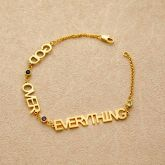 Personalize Custom Letters Bracelet in Gold