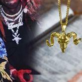Sabbatic GOAT Head Pendant in Gold