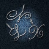 Cursive Style A to Z Initial Letters Pendant in White Gold