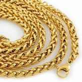 2.5mm 18K Gold Franco Chain