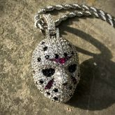 Small Hockey Murder False Face Pendant