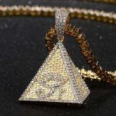 Iced Egyptian Pyramid Eye of Horus