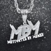 Iced MBM Pendant in White Gold