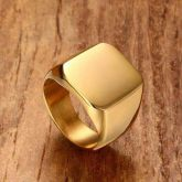 18K Gold Finish Stainless Steel Ring