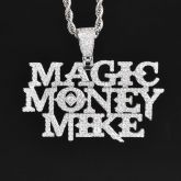 Magic Money Mike Pendant in White Gold