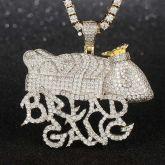 Gold Bread Gang Pendant