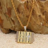 Holy Bible Pendant in Gold