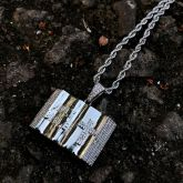 Holy Bible Pendant in White Gold