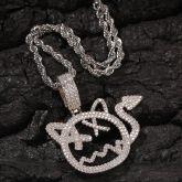Little Devil Pendant in White Gold
