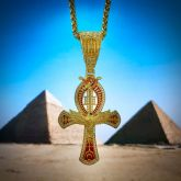 Eye of Horus Eagle Ankh Cross Pendant