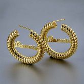 """Personalized 1.4"""" Twisted Curled Name Hoop Earrings"""