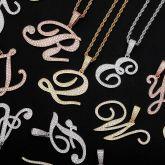 Bold Cursive A to Z Letters Pendant