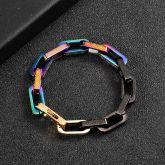 Titanium Steel Multicolor Rectangle Bracelet