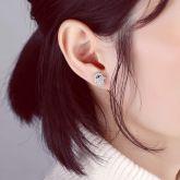 Women's Iced Hamsa Studs Earring