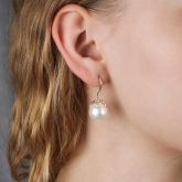 12-12.5mm Pearl Hook Earring