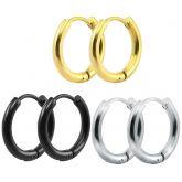 12mm Stainless Steel Hoop Earrings
