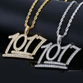 Fashion Iced Numbers 1017 Pendant