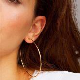 30mm-70mm Circle Hoop Earring in Gold