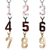 Baseball Numbers 0-9 Pendant