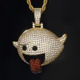 Flying Ghost Pendant in Gold