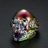 Colorful Skull Titanium Steel Ring