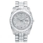 Baguette Cut Datejust Roman Numerals Alloy Watch