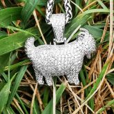 Iced Goat Pendant in White Gold