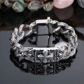 Vintage Cross Totem Stainless Steel Cuban Bracelet