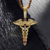The Staff of Hermes Pendant in Gold