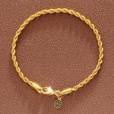 3mm Rope Bracelet in Gold
